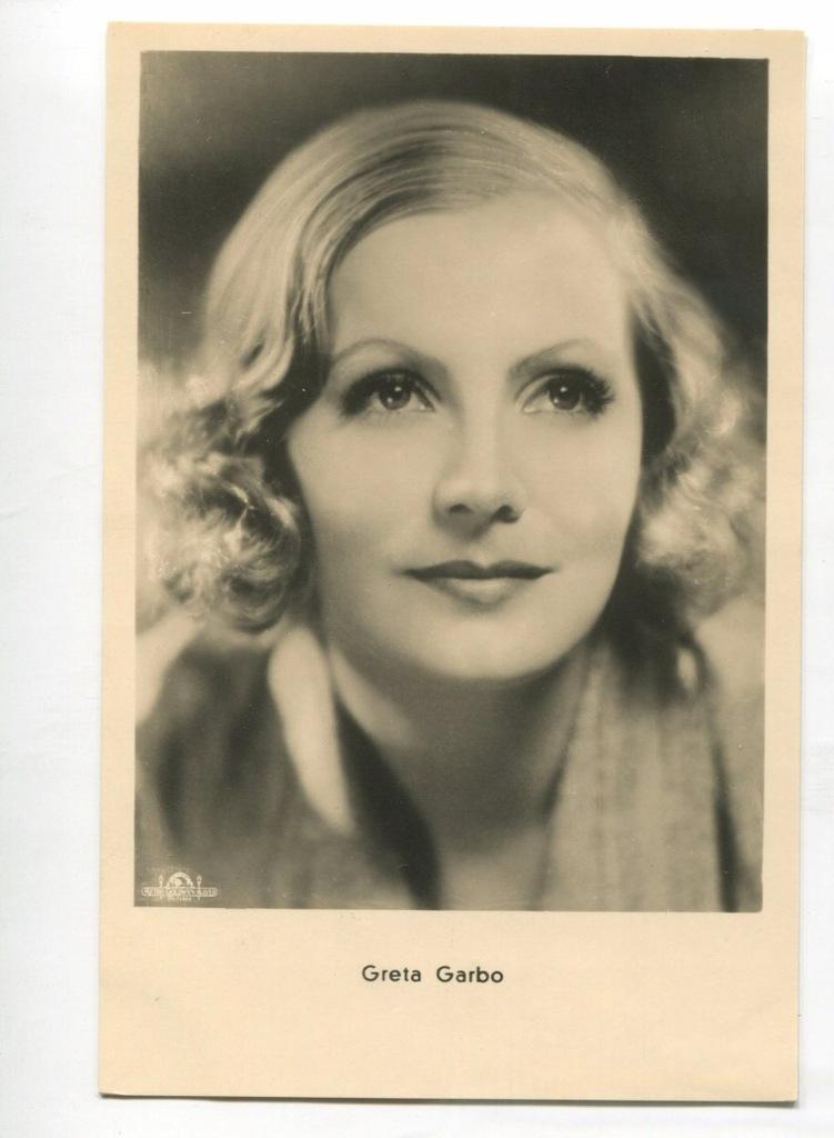 Greta Garbo Kino Film Aktorka Foto Pocztówka 13