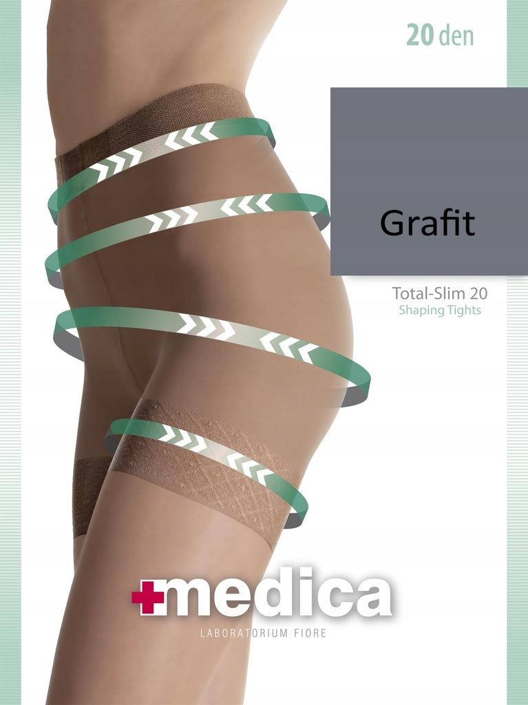 Rajstopy 3 medica TOTAL-SLIM 20 Fiore GRAFIT