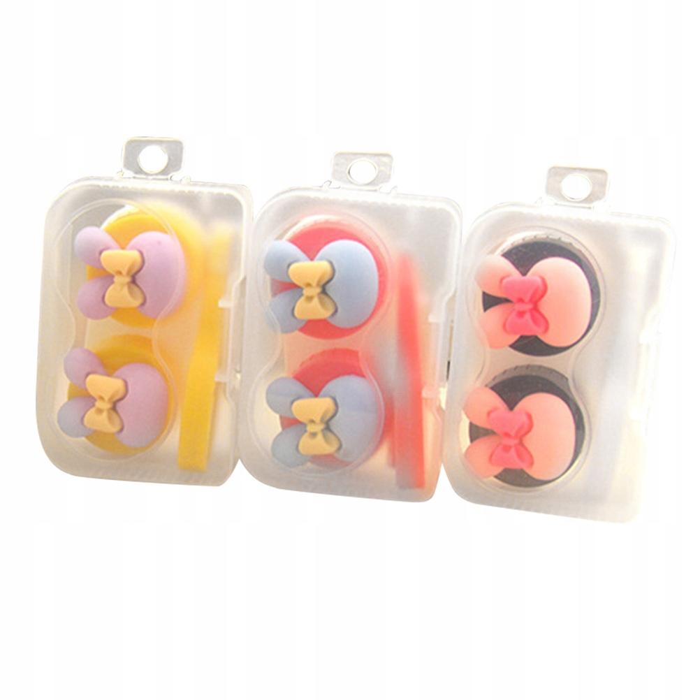 3 sztuk / zestaw Etui na soczewki kontaktowe Małe