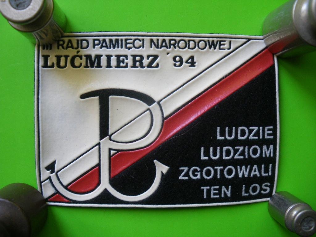 Lućmierz 1994 III Rajd Pamięci Narodowej Naszywka