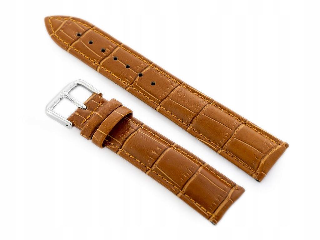 Pasek skórzany do zegarka W102L brąz - 18mm
