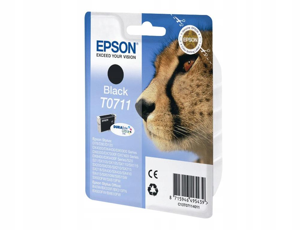 EPSON T0711TUSZ TONER oryginalny CZARNY F-VAT 23 %