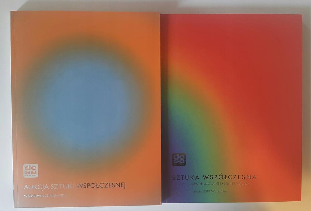 aukcja sztuki współczesnej dwa katalogi