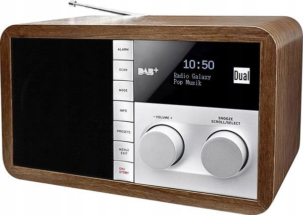 STYLOWE RETRO RADIO CYFROWE DUAL DAB 32 DAB+ FM
