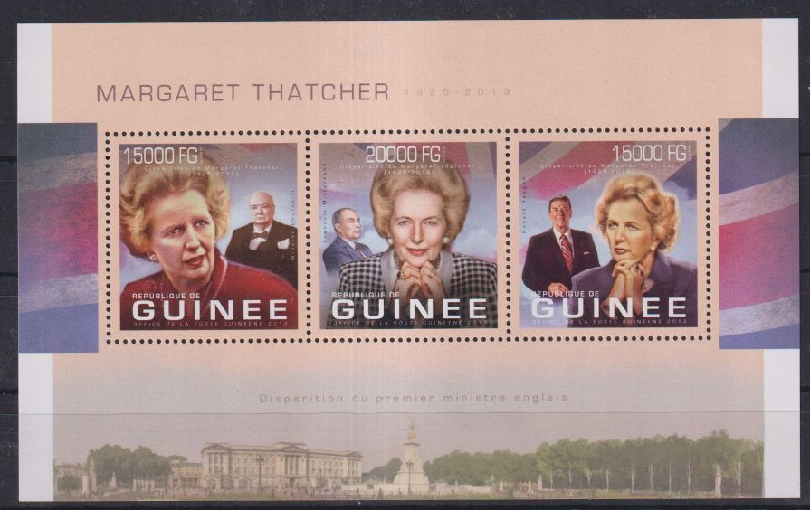 E98. Gwinea MNH 2013 Premier - Margaret Thatcher