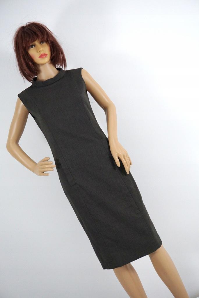 ZARA sukienka midi kieszenie r S
