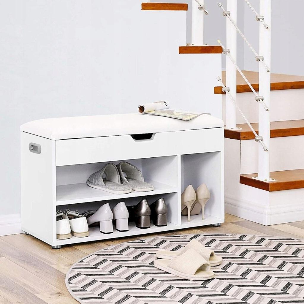 Wooden Shoe Bench, Paaed Storage Seat, Hallway Cab