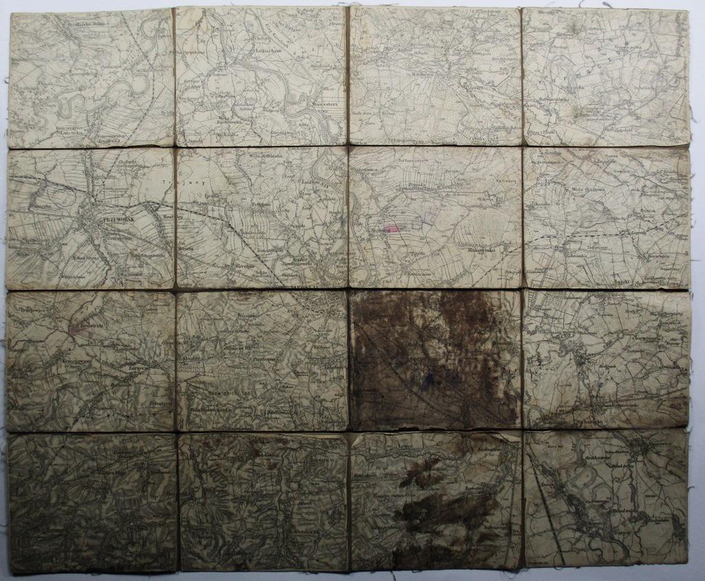 Mapa Przeworsk, Jarosław, ok. 1914 format 54x42 cm