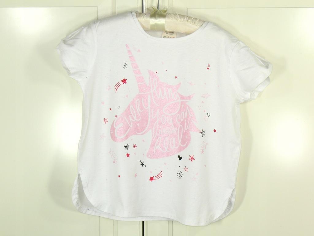 ZARA bluzeczka T-shirt z jednorożcem 128cm, 8 lat