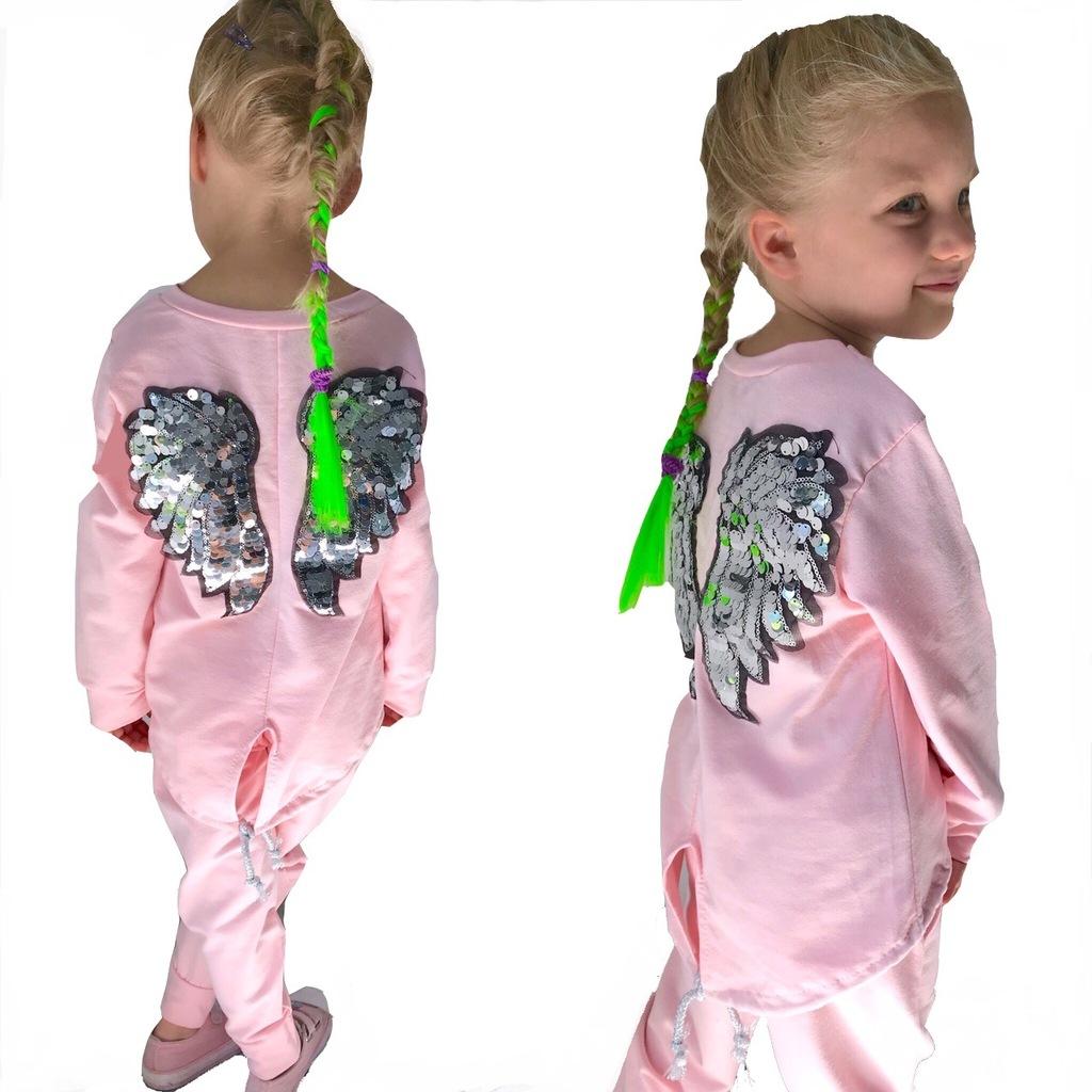 DRES dziewczęcy ANGEL srebrne skrzydła 158