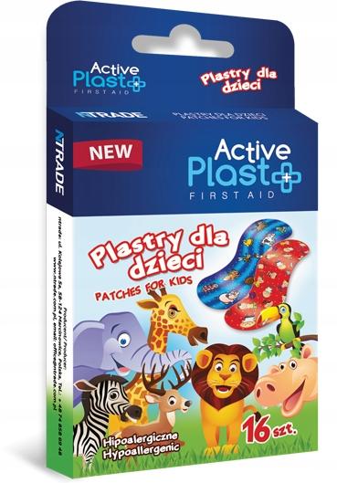 ACTIVE PL Zestaw Plastrów opatrunkowych dla dziec