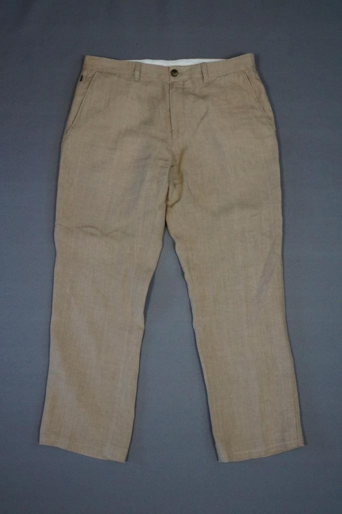 Lniane spodnie Hugo Boss r. 50