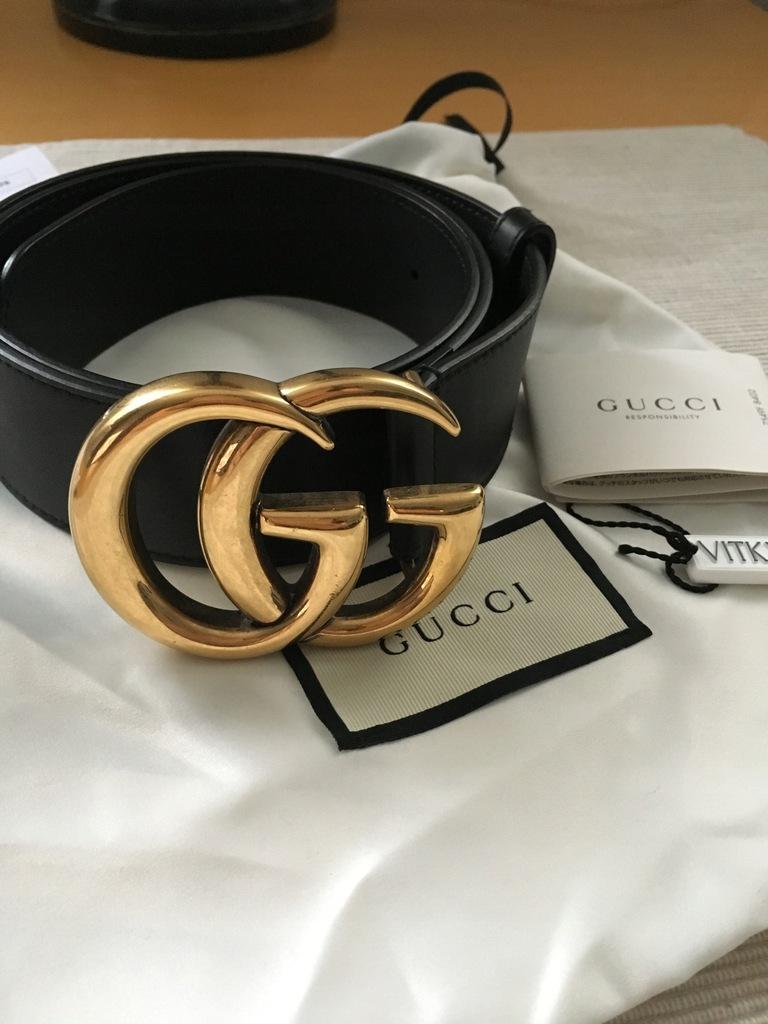 Pasek Skorzany Gucci Vitkac 7809579474 Oficjalne Archiwum Allegro