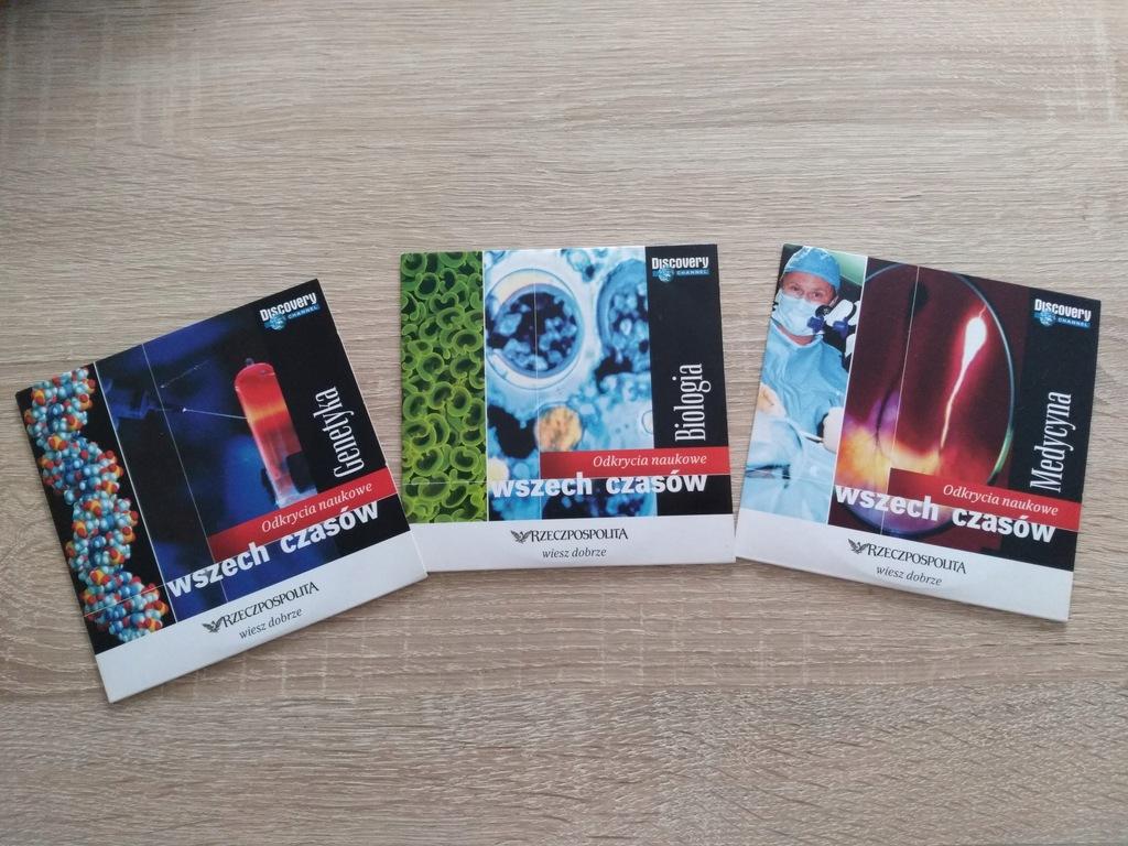 3 płyty Odkrycia naukowe wszech czasów, VCD