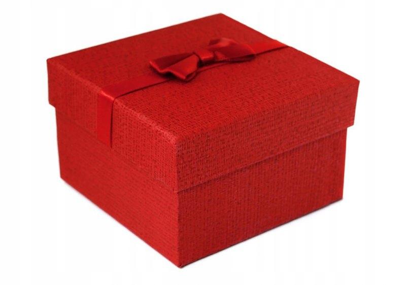 Pudełko na zegarek kokardka - bordo