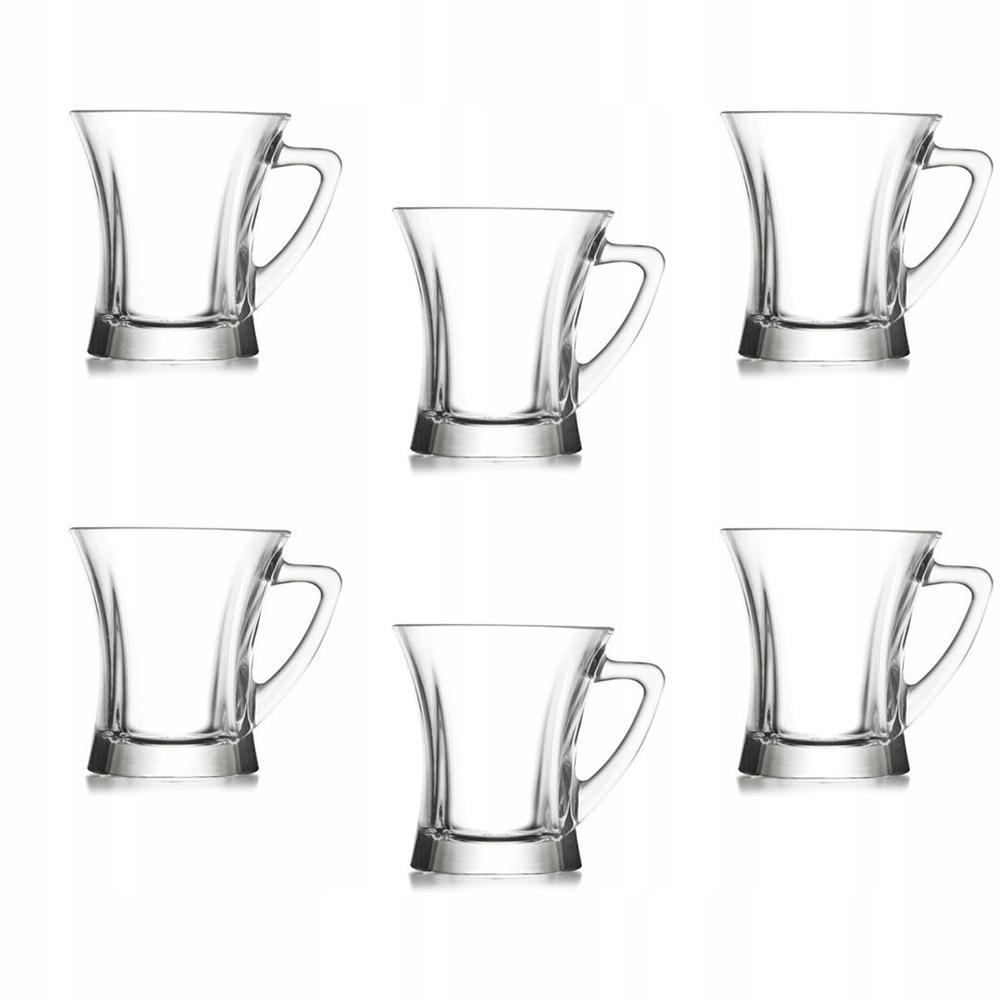 6 szklanek z uchem herbata 220 ml TRUVA LAV