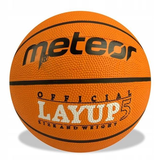 Piłka koszykowa Meteor Layup pomarańczowa 07053