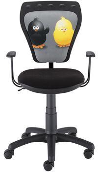 Małe krzesło biurowe białe Ministyle White Cartoons GTP TS22