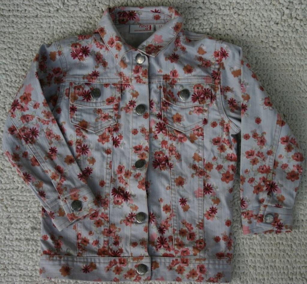 NEXT Kurtka jeansowa w kwiaty Rozm 104 cm 3/4 lata