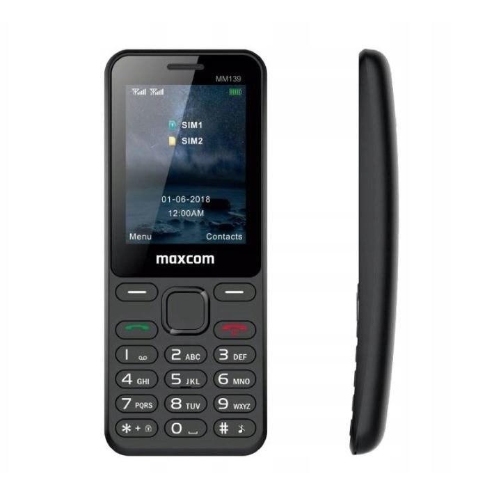 Telefon komórka MAXCOM MM139 zakrzywiony poręczny