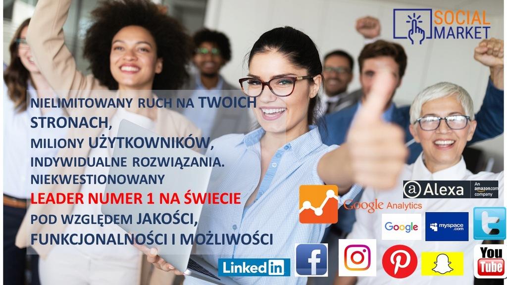 30000 Odwiedzin / SEO - 100% Polska - Faktura VAT!