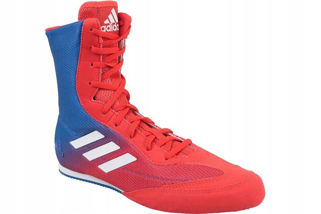 Buty bokserskie adidas Box Hog Plus niebiesko czerwone