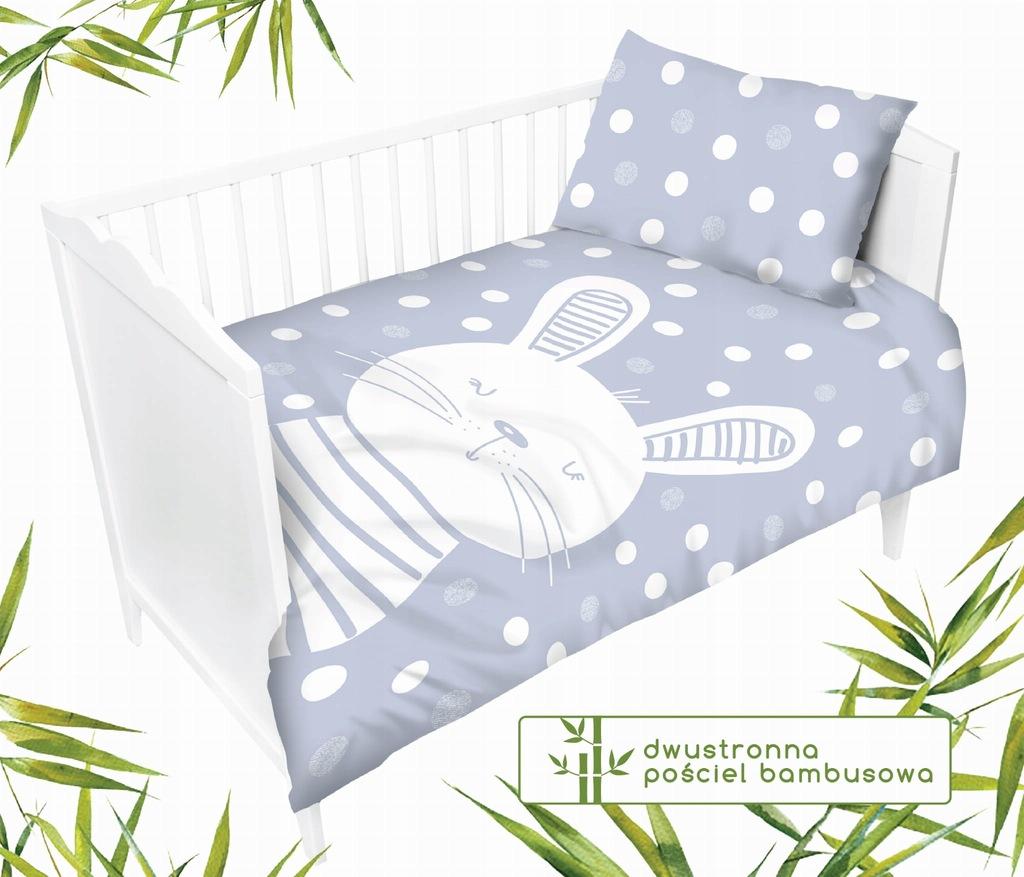 Dziecięca pościel bambusowa dwustronna do łóżeczka