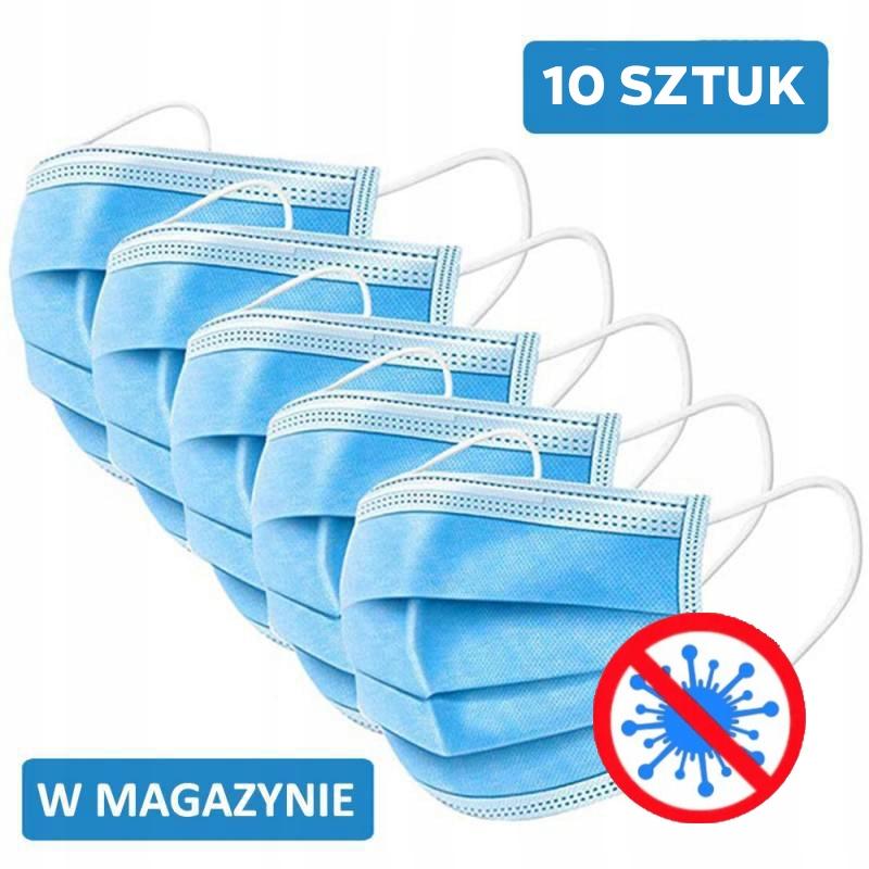 10 sztuk OCHRONNA MASKA MASECZKA DO TWARZY FILTR !