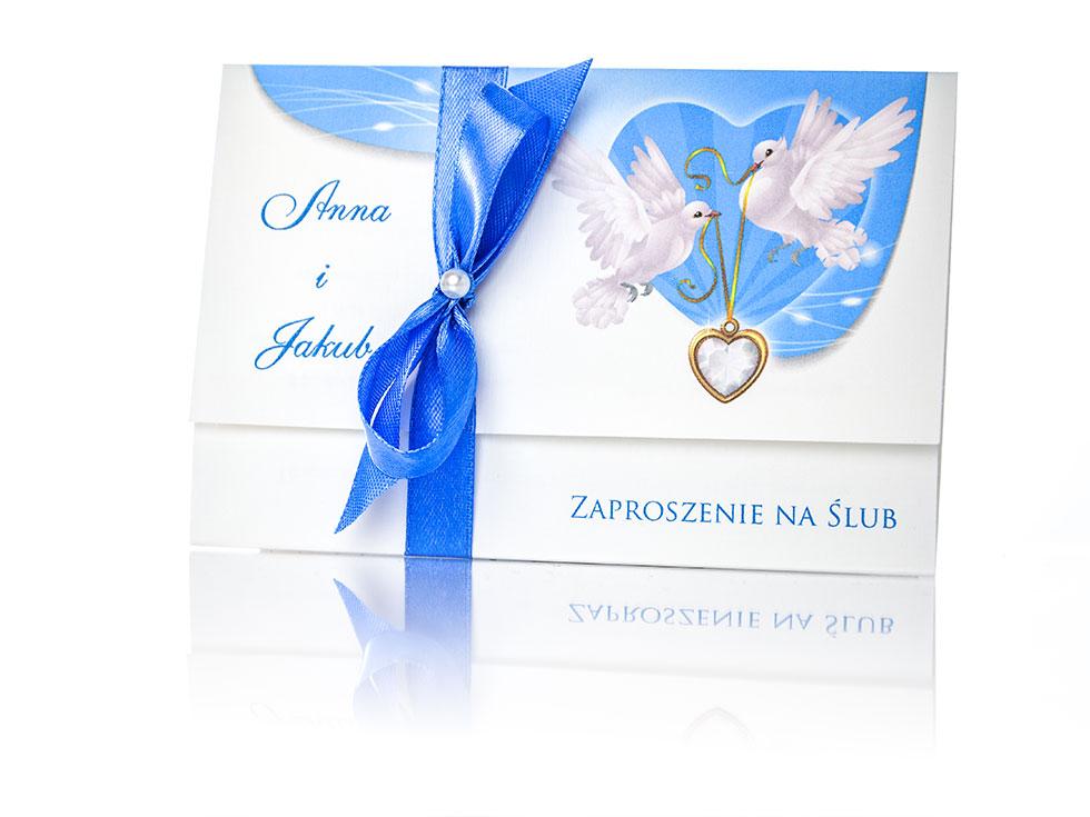 Zaproszenia na ślub i zawiadomienia ślubne, 5 szt.