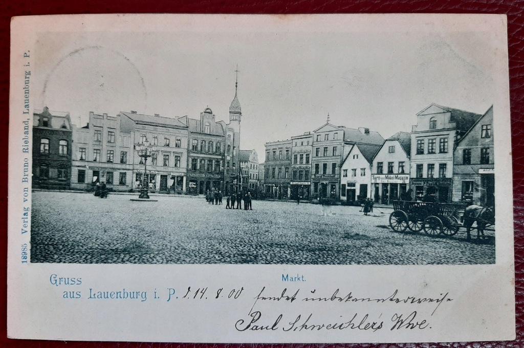 Pocztówka Gruss aus Lauenburg i.P. Lębork 1900 rok