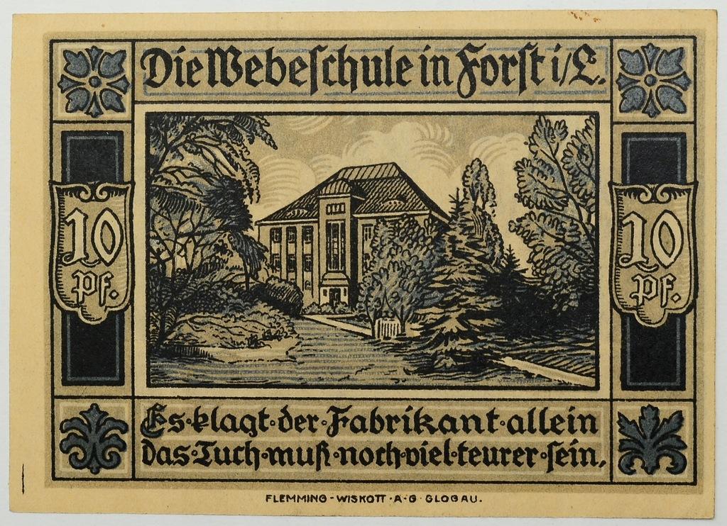 13.Niemcy, Forst Lausitz, 10 Fenigów 1921, St.1-