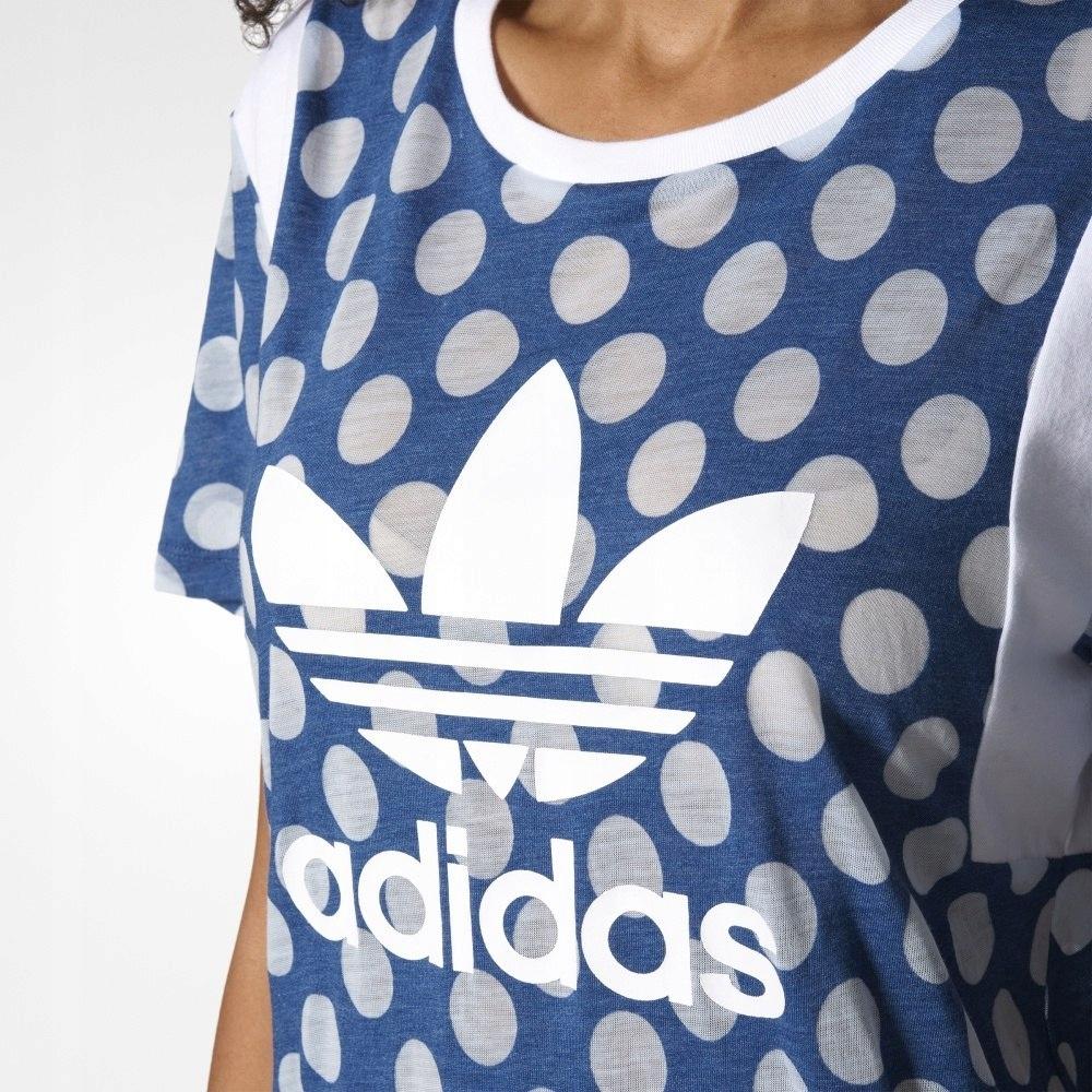 Adidas Koszulka damska Boyfriend Trefoil Tee niebieska r. 30 (BJ8282)
