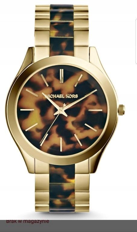 allegro oryginalny zegarek michael kors brazowo zloty męski zegarek