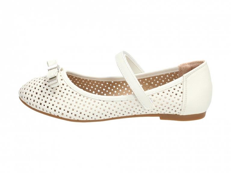 Białe balerinki, buty dziecięce BADOXX 489 r25