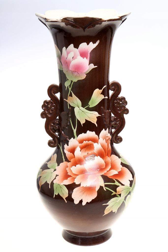WAZON CHIŃSKI DUŻY WYSOKI wazon w KWIATY CHINY
