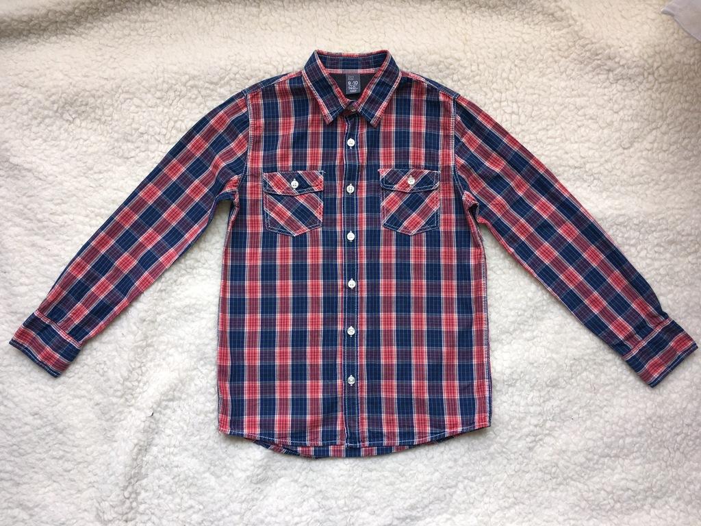 Koszula bluzka kołnierzyk kratka Zara r.140