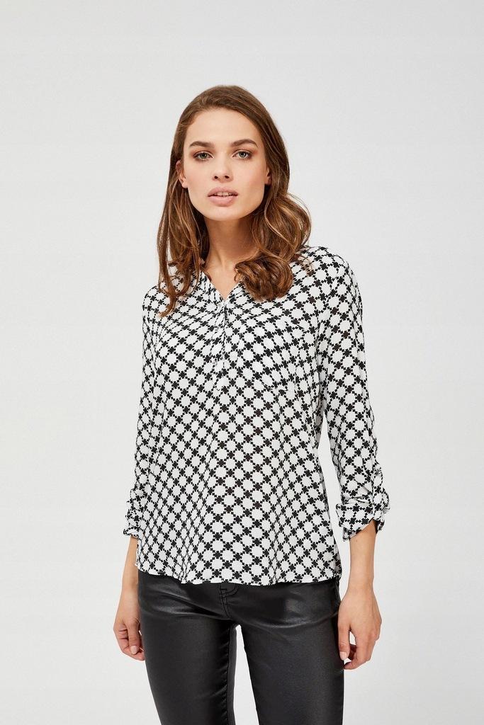 MOODO Bluzka koszulowa Z-KO-3347 BLACK; XL