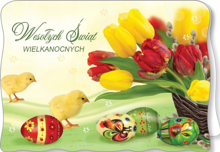 BW 45 Kartki Wielkanocne Z BROKATEM z kopertą - 7904764331 ...