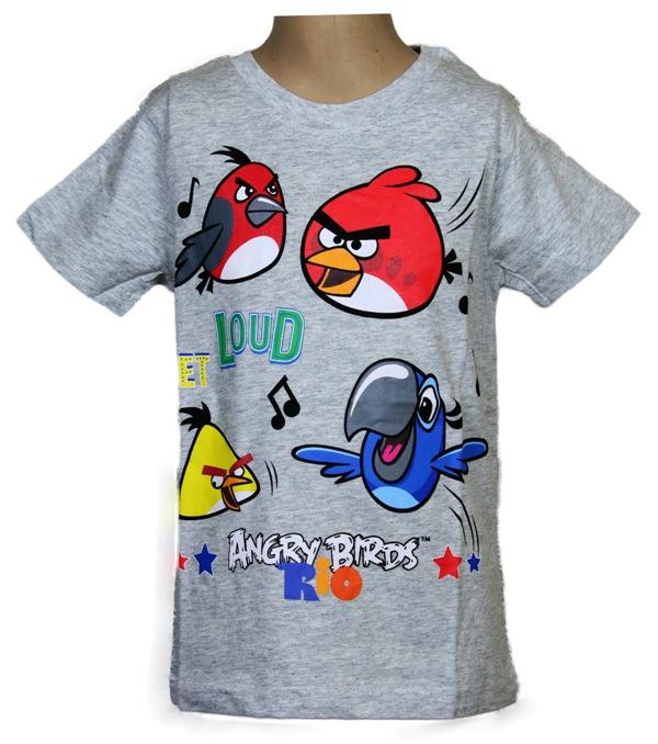Super koszulka ANGRY BIRDS 110 SZARA Disney