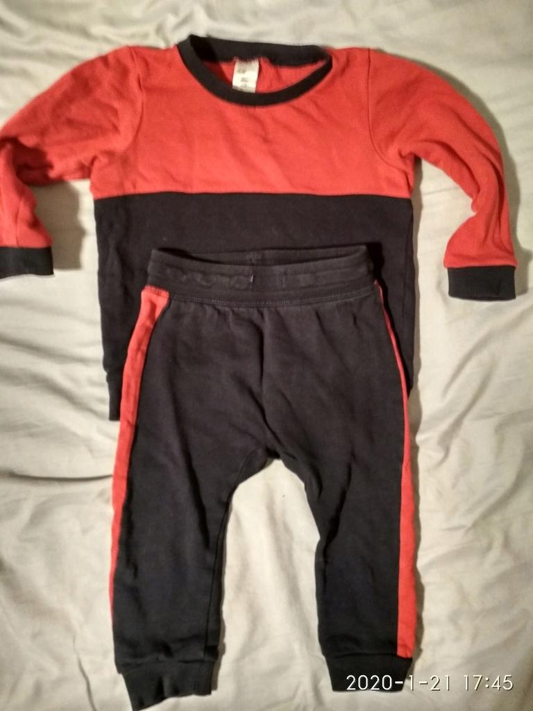 H&M dres spodnie bluza 80 86