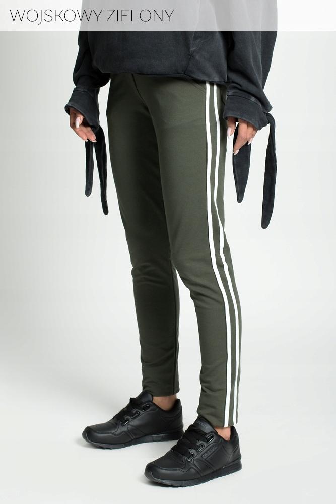 Spodnie legginsy lampasy rurki G62 CZARNE 4XL 5XL