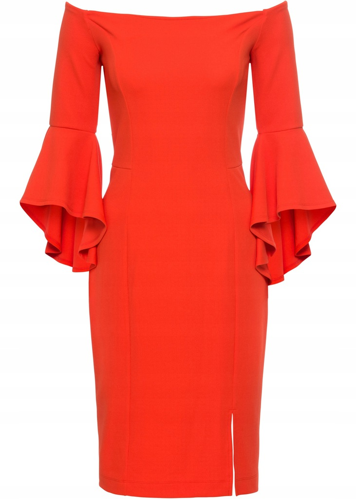 Q154 BPC Sukienka z rozkloszowanymi rękawami 32/34