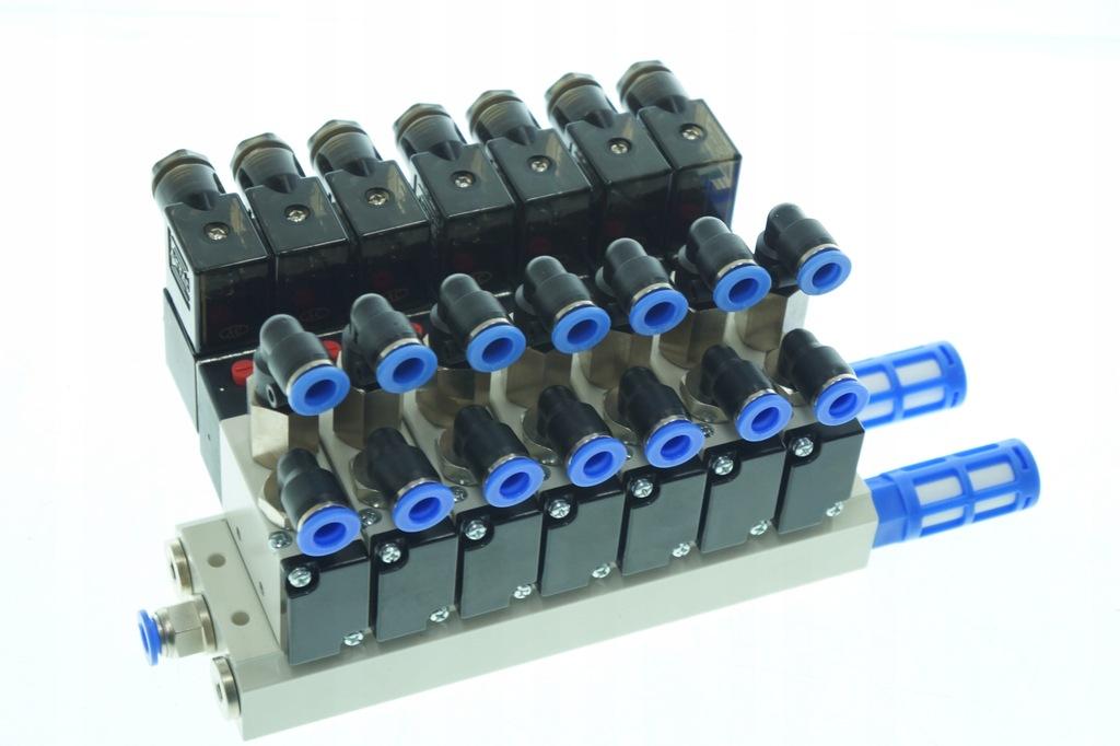 Wyspa 7 zawór elektrozawór AIRTAC 5/2-1/4-230 V AC
