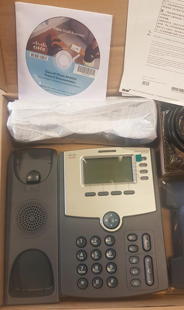 Telefon CISCO SPA504G- nowy, nieużywany