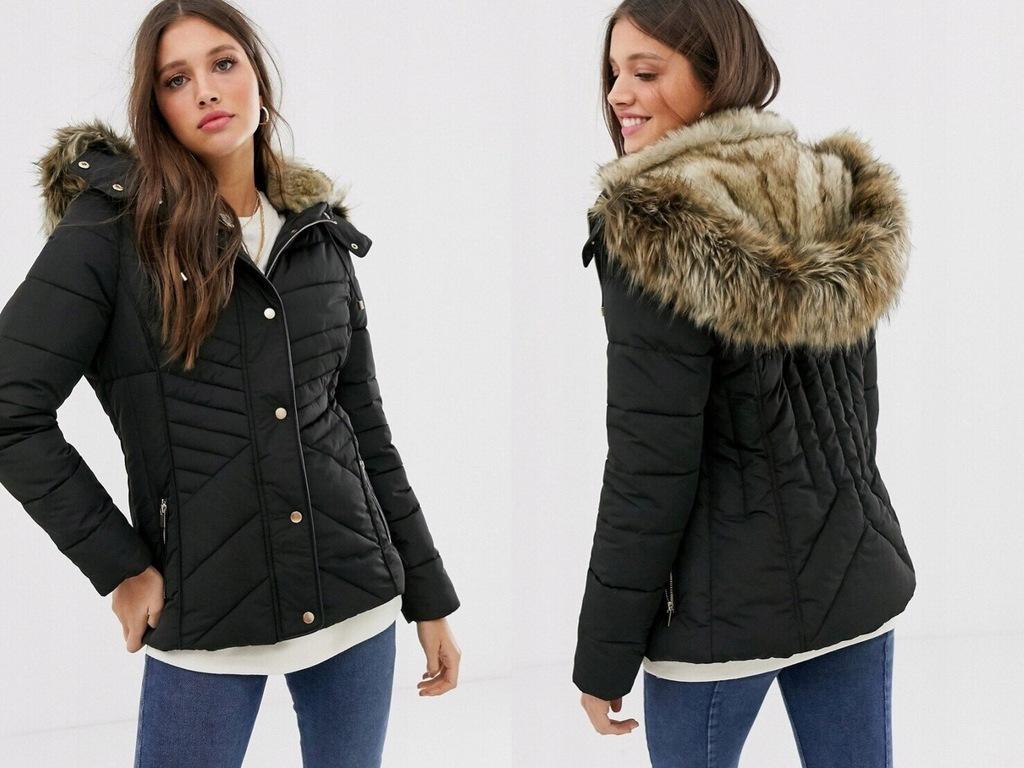New Look Dopasowana kurtka puchowa czarna 36/S