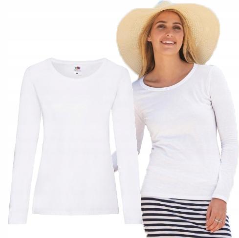 Bluzka damska z długim rękawem Fruit biała S