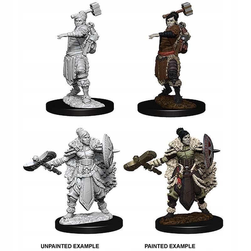 DnD Nolzur's Miniatures: Female Half-Orc Barbarian