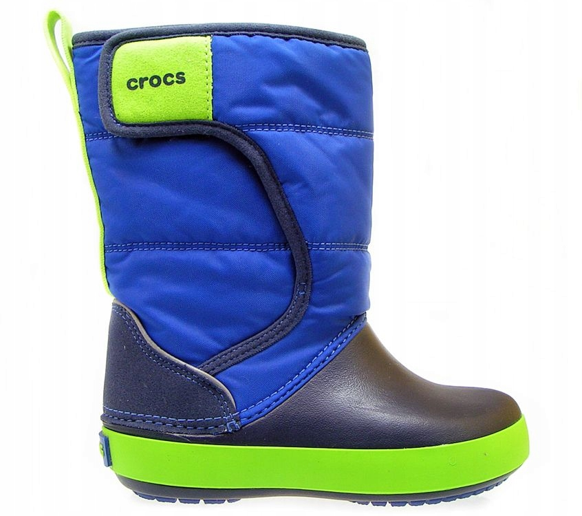 CROCS-Niebieskie Śniegowce 204660-4HD R 25/26