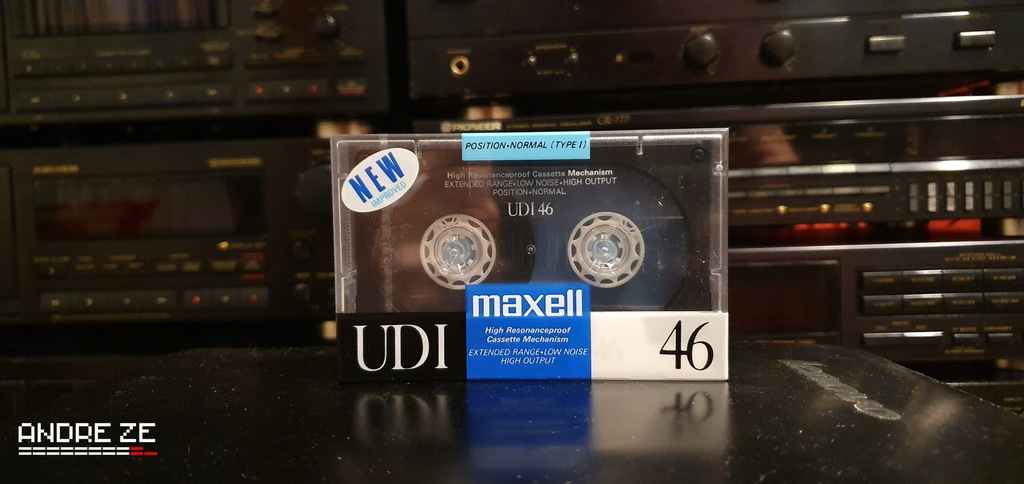 Maxell UDI 46 z Japonii, rok 1988-89.