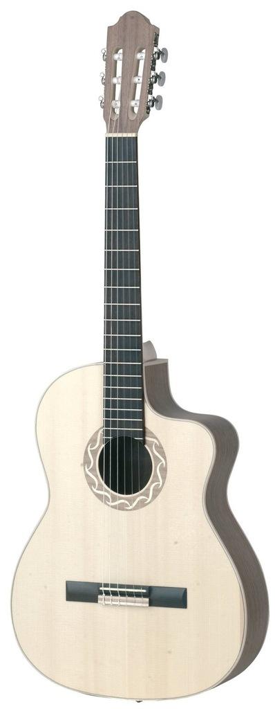 Gitara Elektroklasyczna 4/4 PRO NATURA SILVER SAMB